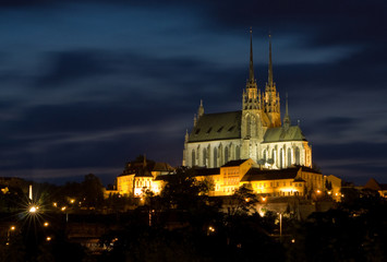 Cathedral Petrov at night – Brno Czech Republic