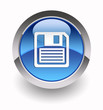Floppy disc glossy icon