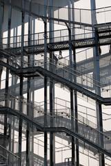 External modern ladder, fire escape