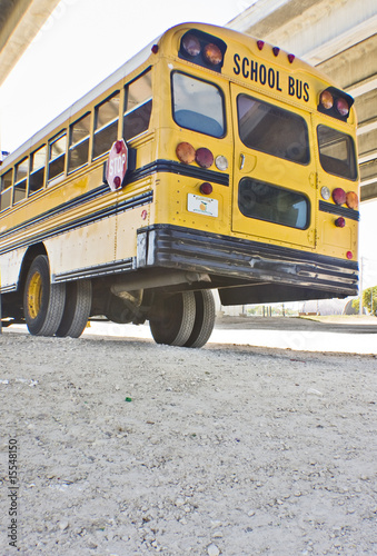 the bus is taking the kids back to school