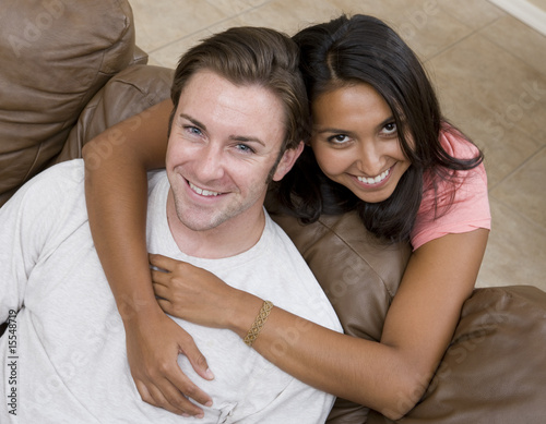 A young attractive couple relaxing