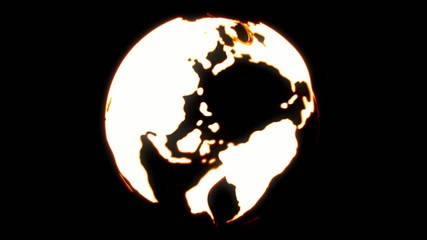 Glowing Globe Map