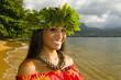 smiling hula girl