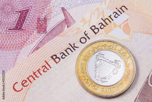 Bahrain currency banknotes and coin