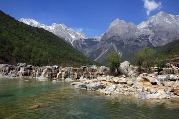 Waterfall, Jade Dragon Snow Mountain