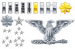 american army officer ranks insignia icons - 15557758