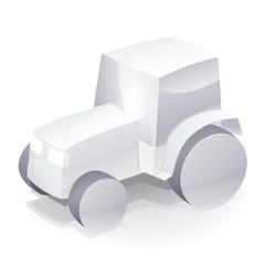 Tracteur blanc (reflet)