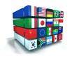 Pays G20 mondial cube 3D fond blanc