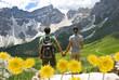 Leinwanddruck Bild - Trekking Dolomiti Alto Adige - Val di Funes