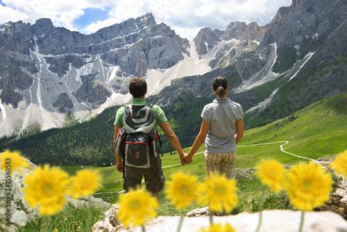Leinwanddruck Bild Trekking Dolomiti Alto Adige - Val di Funes