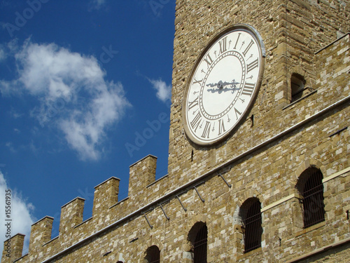 poster of tower clock, detail of Palazzo Vecchio in Florence