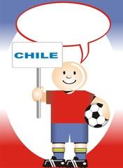Postal de Aliento para la selección Chilena de Futbol