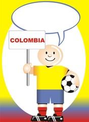Postal de Aliento para la selección Colombiana de Futbol