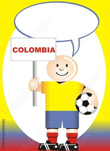 Vector: Postal de Aliento para la selección Colombiana de Futbol