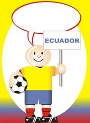 Postal de Aliento para la selección Ecuatoriana de Futbol