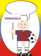 Postal de Aliento para la selección Venezolana de Futbol