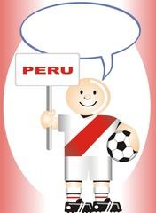 Postal de Aliento para la selección Peruana de Futbol