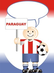Postal de Aliento para la selección Paraguaya de Futbol