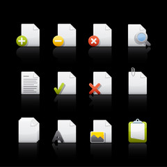 Icon Set in Black - Document Files