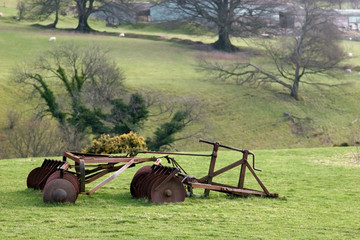 Old Agricultural Plow