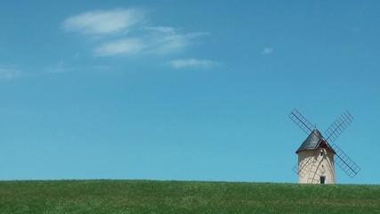 Ciel et moulin