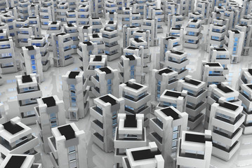 Generic Building Field, White