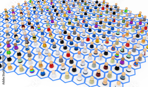 Cartoon Crowd, Hexagons