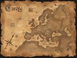 Vintage Europe map  horizontal