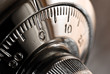 Leinwanddruck Bild - safe lock combination plate