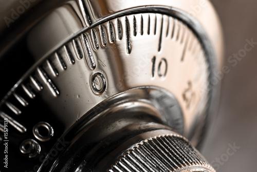 Leinwanddruck Bild safe lock combination plate
