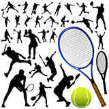 collection of tennis vector