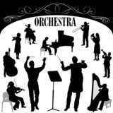 orchestra musician vector poster