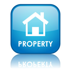 "Square ""PROPERTY"" button (blue) (British English version)"