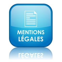 """Bouton carré """"MENTIONS LEGALES"""" (bleu)"""
