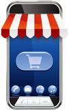 Smartphone et boutique en ligne poster