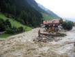 Leinwandbild Motiv hochwasser in Ischgl