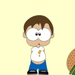 bambino obeso panino