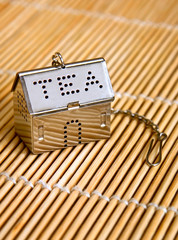 toy small house on wooden background