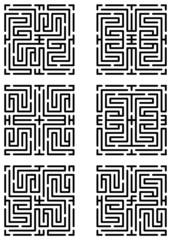 Mazes made with help of seamless maze pattern 15583219