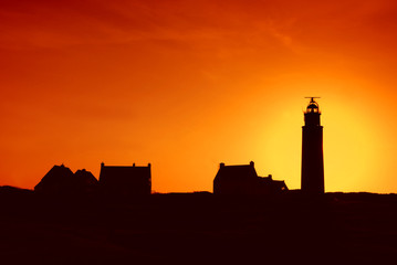 silhouette of lighthouse