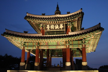 Traditional Korean building.