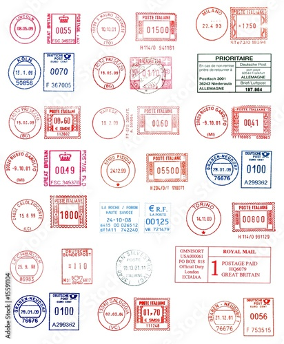 colorful postmarks background