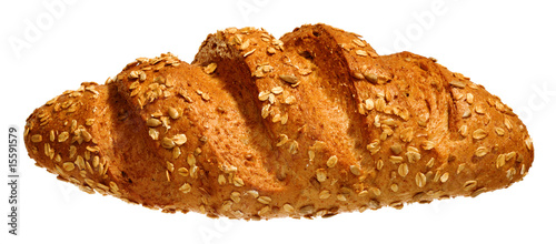 Long loaf isolated on white