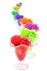 color ice cream cones snake