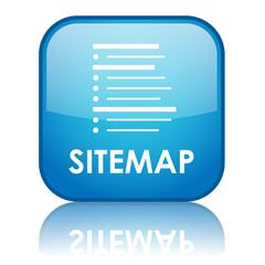 "Square ""SITEMAP"" button with reflection (blue)"