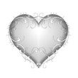 Herz mit floralem Ornament