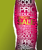 Green sale discount advertisement poster