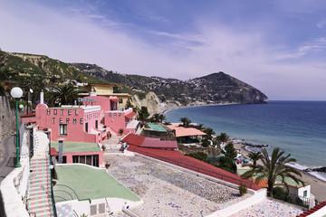 ITALY, Campania, Ischia island, S.Angelo beach