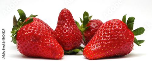 Strawberries in a group