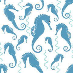 sea horse pattern vector